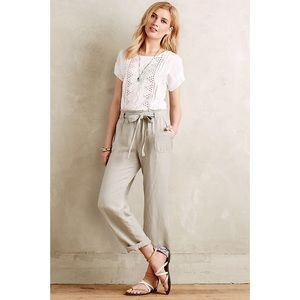 Anthropologie Pants Paper Bag High Waist Belted